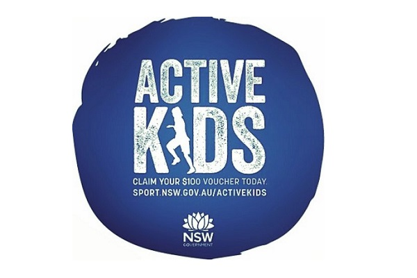 Blue circle showing the active kids logo