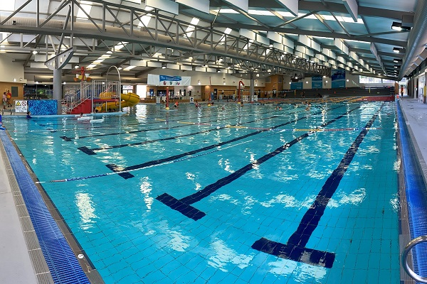 The Ripples St Marys indoor pool overlooking the learn to swim area